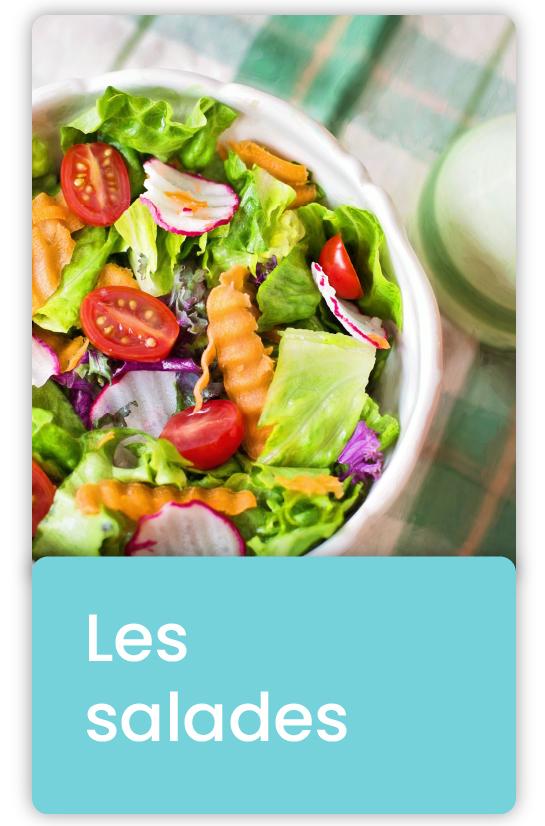 Les salades faites à partir de légumes, de fruits et d'huile appartiennent à la cuisine végétale